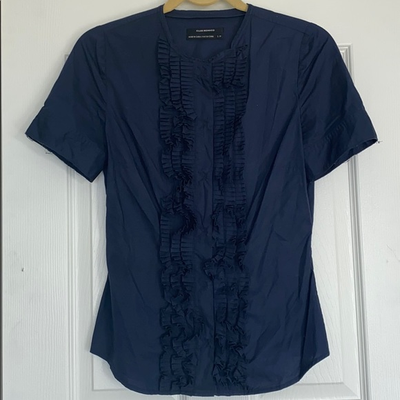 VTG Club Monaco ruffle shirt